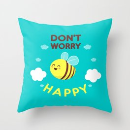 Buzzing life! Throw Pillow