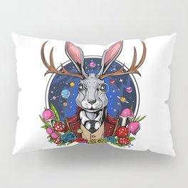 Psychedelic Jackalope Shrooms Rabbit Pillow Sham