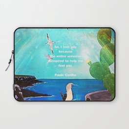 I LOVE YOU Inspirational Quote Laptop Sleeve