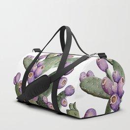 Purple Prickly Pear Painting Duffle Bag