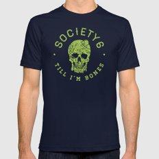 Society6 Till I'm Bones X-LARGE Mens Fitted Tee Navy