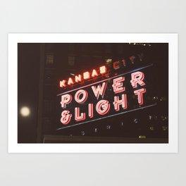 Power and Light Art Print