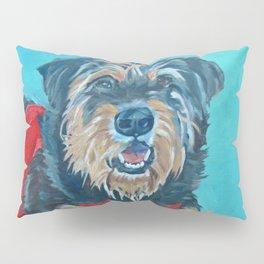 Rescue Mutt Dog Portrait Pillow Sham