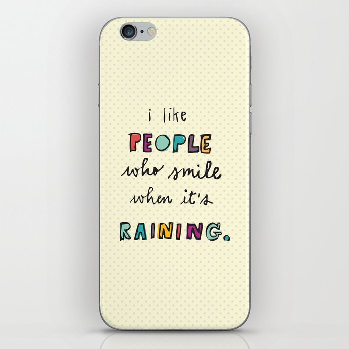 when it's raining iPhone Skin