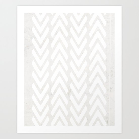Chevron Tracks Art Print