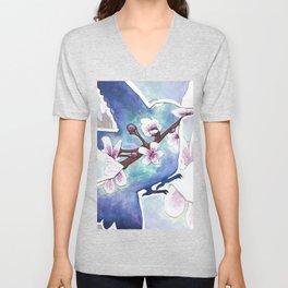 Cherry blossom bird Unisex V-Neck