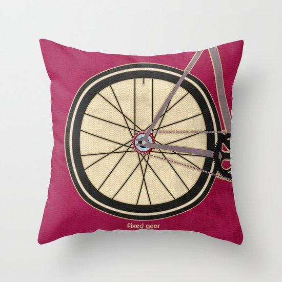 Single Speed Bicycle Throw Pillow