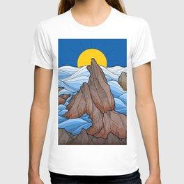 The rocky sea cliffs T-shirt