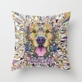 rainbow dog Throw Pillow
