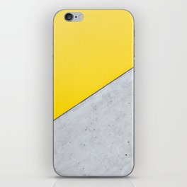 Yellow & Gray Abstract Background iPhone Skin