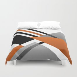 Sophisticated Ambiance - Silver & Honey Glow Duvet Cover