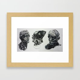 Bagged Heads (Triptych) Framed Art Print