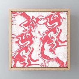 Modern Aesthetic Red Swirled Tie Dye Framed Mini Art Print