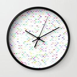 vintage fantasy worn dashes Wall Clock