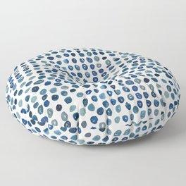 Water Color Polka Dots Floor Pillow