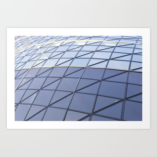 The Gherkin Abstract  Art Print