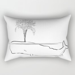 TRAGIC FLOWERING WHALE Rectangular Pillow