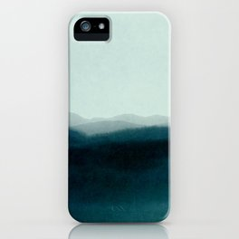 morning mist scenery iPhone Case