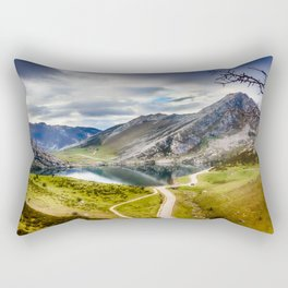 The Lakes of Covadonga, Enol Rectangular Pillow