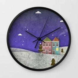 Winter print Wall Clock