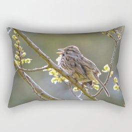 Song Sparrow Rectangular Pillow