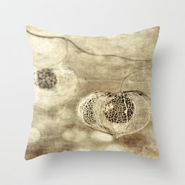 Crumbling Beach Throw Pillow