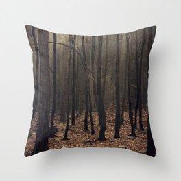 Winter magic forest Throw Pillow