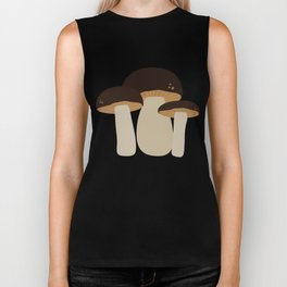 Brown Mushrooms T-Shirt for Women, Men and Kids Biker Tank