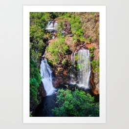 Florence Falls - view from above-NT, Australia Art Print