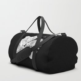 geranium in bw Duffle Bag