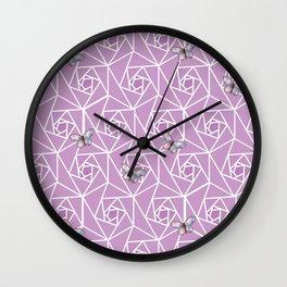 Roses & Butterflies Wall Clock