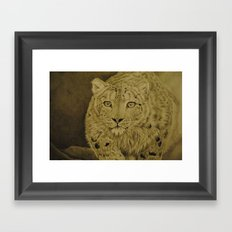 The Snow Hunter Framed Art Print