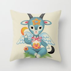 Baby's First Baphomet Throw Pillow