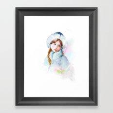 Snow girl Framed Art Print