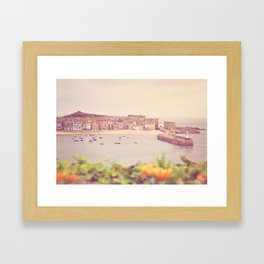 Cornish harbour. Framed Art Print