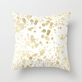 Trendy elegant faux gold modern confetti pattern Throw Pillow