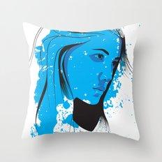 Black, blue & white II Throw Pillow