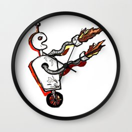 Flamethrower Bot Wall Clock