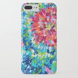 Color Burst Finger Painting iPhone Case