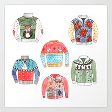 Ugly Sweaters Art Print