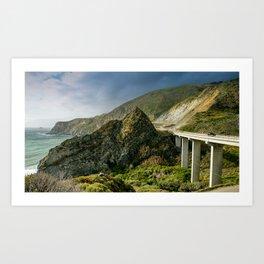 Willow Creek Picnic Area and Beach, Cabrillo Hwy, California Coastline Art Print