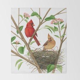 Northern Cardinals Throw Blanket