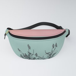 Pine tree and birds Fanny Pack