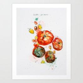 Tomato Love Art Print