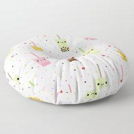 Colorful Happy Bubble Tea Floor Pillow