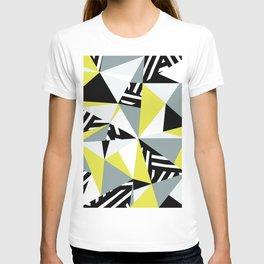 Modern Geometric 45 Yellow T-shirt