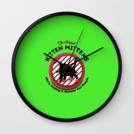 The Original Kitten Mittens Wall Clock