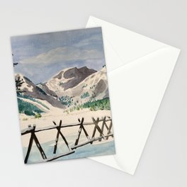 snowy tahoe Stationery Cards