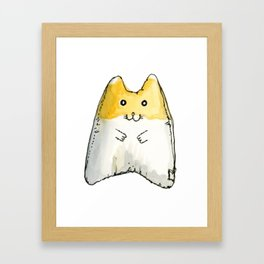 Hamster Squeaky Toy Framed Art Print