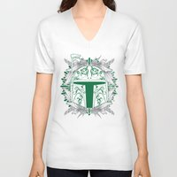 boba V-neck T-shirts featuring Boba Tatt by Matthew Bartlett